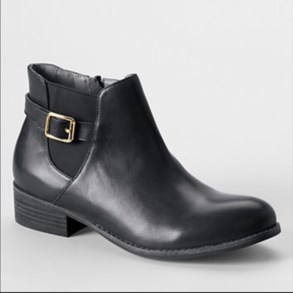 8fc36c34742bb Lands  End Shoes - Lands End Worn 1x Blakey Black Leather Bootie 9